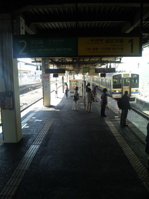 佐倉13時0<br />  1分発銚子行き