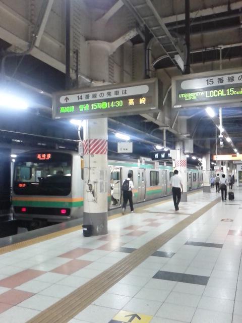 遅れ気味の夏期休暇、再開の件:東北本線上野
